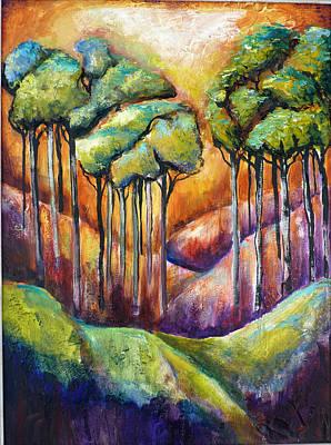 Trees Art Print by P Maure Bausch