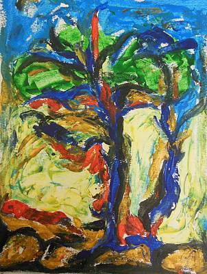 Painting - Trees Standing Tall by Esther Newman-Cohen