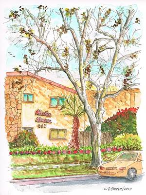 Trees Without Leaves In Hollywood-california Art Print