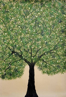 Tree Roots Painting - Treescape 3 by Sumit Mehndiratta