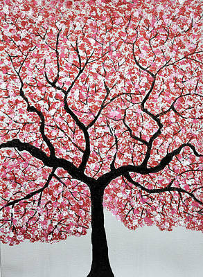 Flowers Painting - Treescape 4 by Sumit Mehndiratta