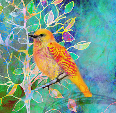 Natures Garden Painting - Treetops by Robin Mead