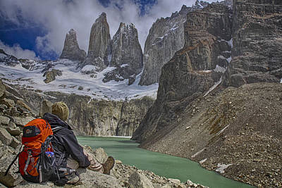 Trek To Torres Del Paine Art Print by Gary Hall