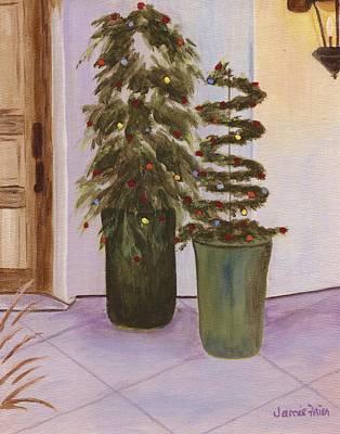 Painting - Trellis Christmas Tree by Jamie Frier