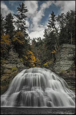 Photograph - Treman Falls by Erika Fawcett