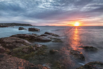 Acadia Photograph - Trembling On The Shore by Jon Glaser