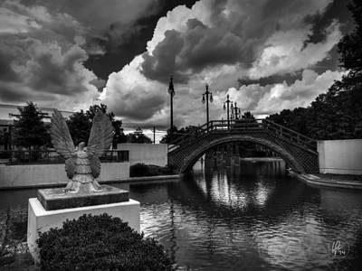 Statue Bridge Photograph - Treme - Louis Armstrong Park 001 by Lance Vaughn