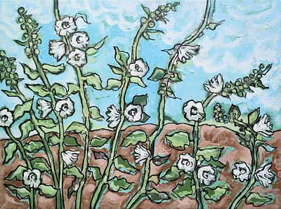 Tremieres Blanches Et Nouages Art Print by Marcio Melo