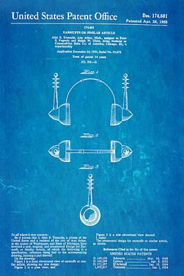 Trek Photograph - Tremulis Earmuffs Patent Art 1955 Blueprint by Ian Monk