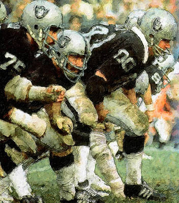 Oakland Raiders Painting - Trenches Raiders by John Farr