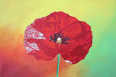 Painting - Trendy Poppy  by Taiche Acrylic Art