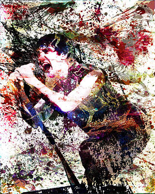 Rock And Roll Mixed Media - Trent Reznor Artwork by Ryan Rock Artist