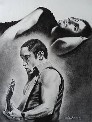 Drawing - Trent Reznor Of Nine Inch Nails Burn by Carla Carson