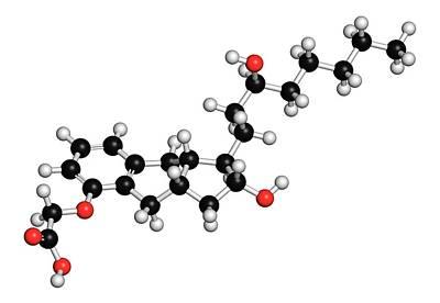 Treprostinil Hypertension Drug Molecule Art Print