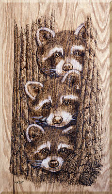 Pyrography - Tres Amegos by Ron Haist