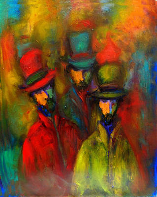 Painting - Tres Amigos  by Marina R Burch