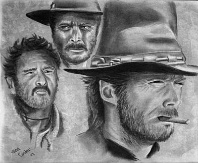 Drawing - Tres Hombres by Alan Conder