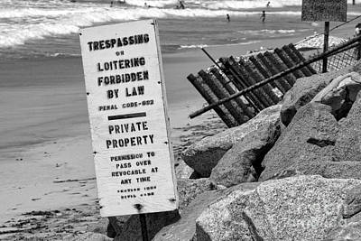 Photograph - Trespassing Or Loitering Forbidden By Diana Sainz by Diana Raquel Sainz