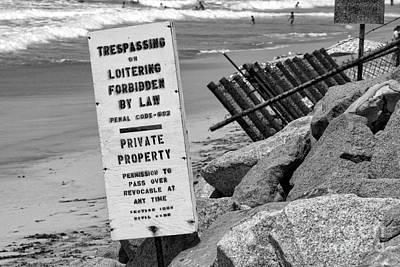 Photograph - Trespassing Or Loitering Forbidden By Diana Sainz by Diana Raquel Sainz