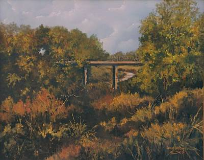 Painting - Trestle In The Trees by Lynne Wright