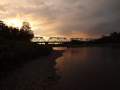 Photograph - Trestle Sunset 1 by Gene Cyr