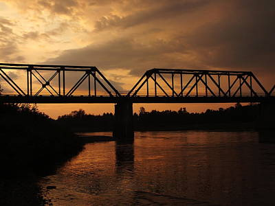 Photograph - Trestle Sunset 3 by Gene Cyr