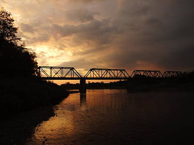 Photograph - Trestle Sunset2 by Gene Cyr