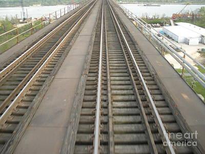 Rickety Bridge Photograph - Trestle Train Tracks by Joseph Baril