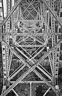 Photograph - Trestle Transcendent In Black And White by Lee Craig