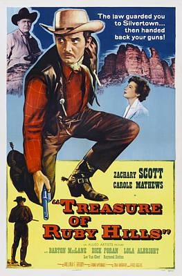 Tresure Of Ruby Hills, Us Poster Art Art Print by Everett