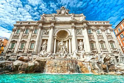 Trevi Fountain - Rome Art Print by Luciano Mortula