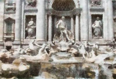 Papal Painting - Trevi Fountain by Dan Sproul