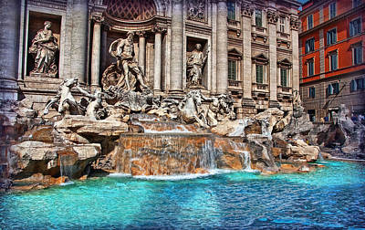 Photograph - Trevi Fountain by Hanny Heim