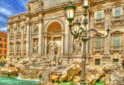 Trevi Fountain In Rome Art Print