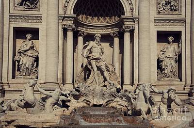 Sculpture - Trevi Fountain by Louise Fahy