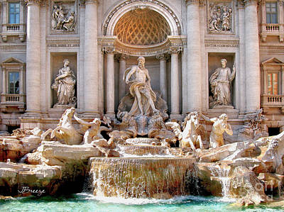 Photograph - 3 Coins Trevi. Rome by Jennie Breeze