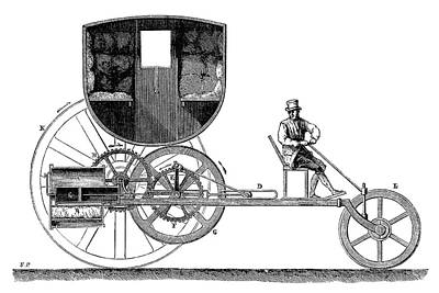 1801 Photograph - Trevithick Steam Car by Science Photo Library
