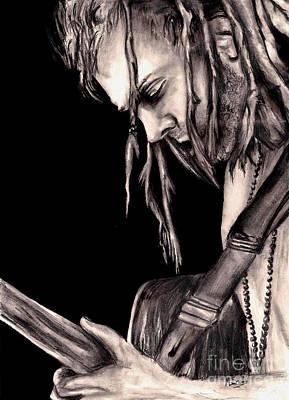 Rasta Drawing - Trevor Hall by Michael Grubb