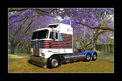 Print featuring the photograph Trev's Kenworth by Keith Hawley