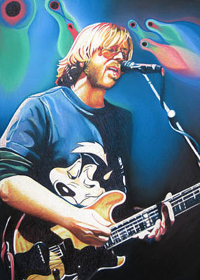 Phish Drawing - Trey Anastasio And Lights by Joshua Morton