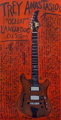 Guitar Painting - Trey Anastasio Languedoc Guitar by Karl Haglund