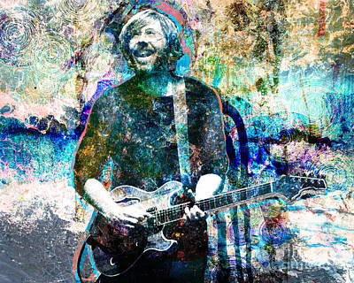 Mike Painting - Trey Anastasio - Phish Original Painting Print by Ryan Rock Artist