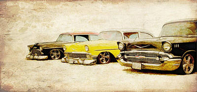 Photograph - Tri 5 Chevys by Steve McKinzie