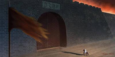 Trial Gate Art Print by Hiroshi Shih