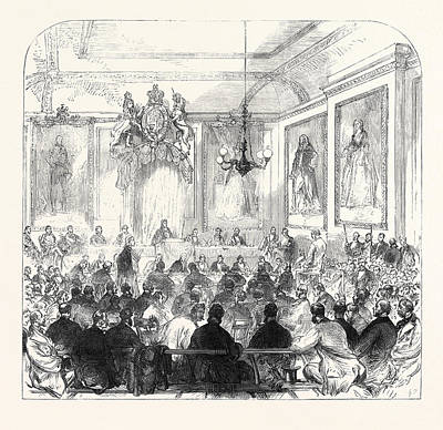 Trial Of The Windsor Election Petition In The Town Hall Art Print