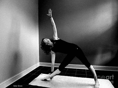 Photograph - Triangle Pose In Black And White by Sally Simon