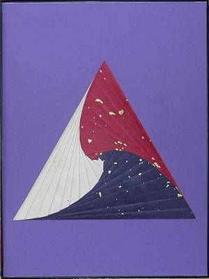 Mixed Media - Triangle by Ron Davidson