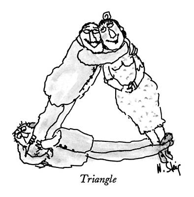Triangle Drawing - Triangle by William Steig