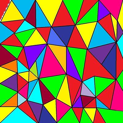 Triangles # 6 Art Print