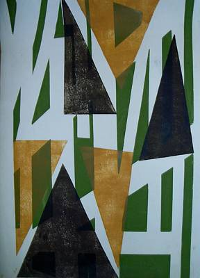 Painting - Triangles by Erika Chamberlin